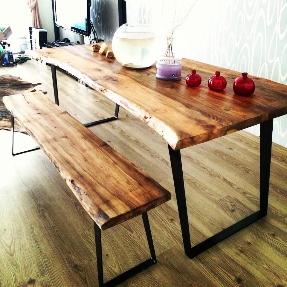 Alaca Kütük Ağaç Masa Yemek Masası