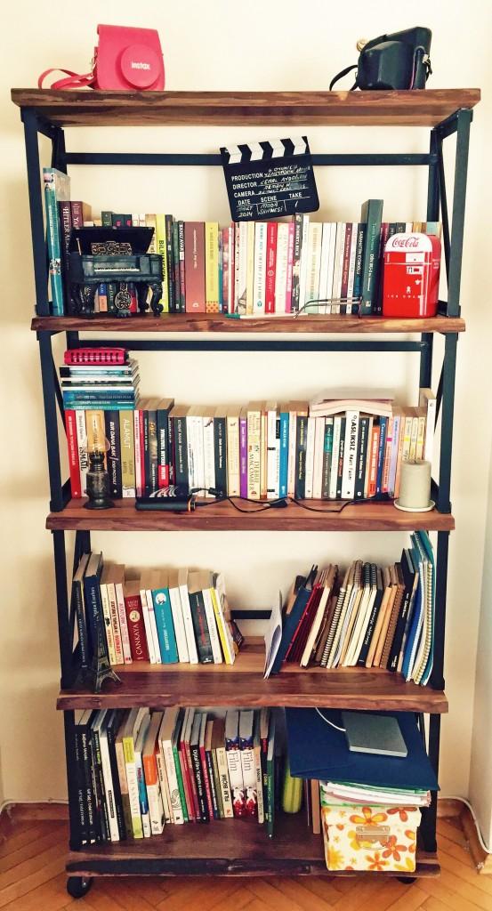 band ceviz ağacı ahşap kitaplık