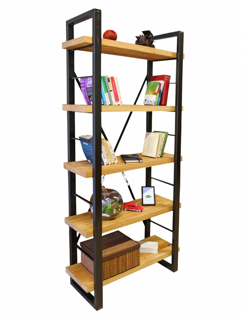 timber ahşap tarz kitaplık