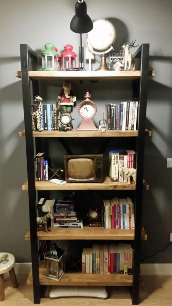timber masif ahşap kitaplık