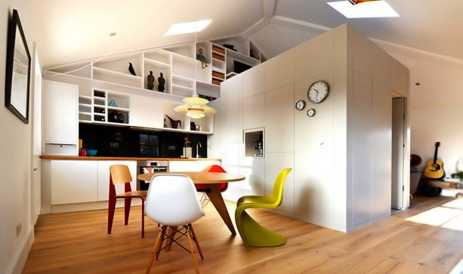 Picture: sample of factory conversion studio flats.