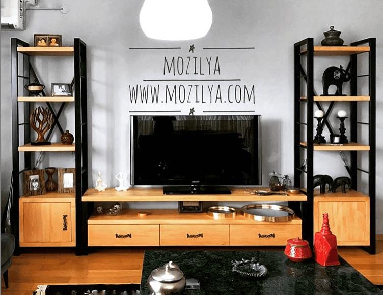 rokko ahşap tv unitesi