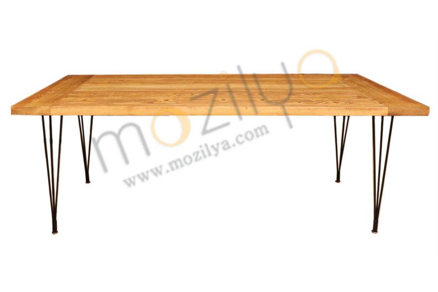 köknar ağacı doğal ahşap yemek masası
