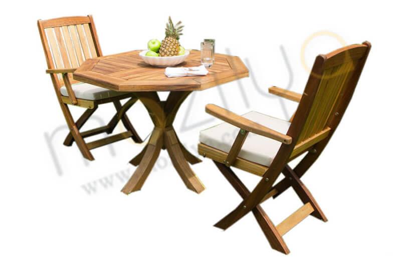 iroko ahşap bahçe mobilyası